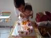 Blow cake