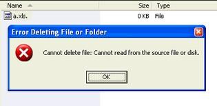 Window XP - 删除档案问题