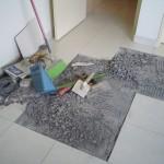 瓷砖修理现场