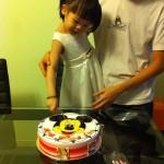 Chloe,爸爸与生日蛋糕