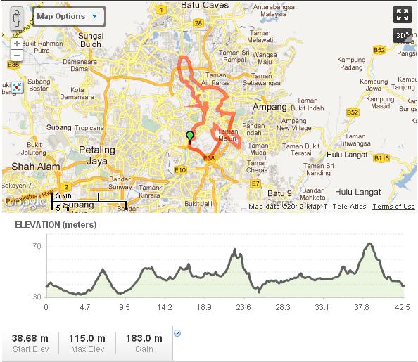 Standard Chartered KL Marathon 2012 route