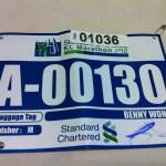 Standard Chartered Kuala Lumpur Marathon 2012 Bib