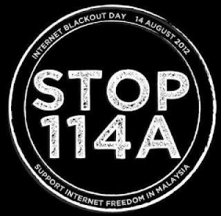 停止114A