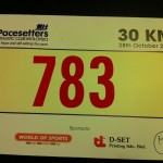 Pacesetters 30km Race Bib Number